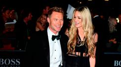Ronan Keating and Storm Keating attending the GQ Men of the Year Awards 2017 held at the Tate Modern, London