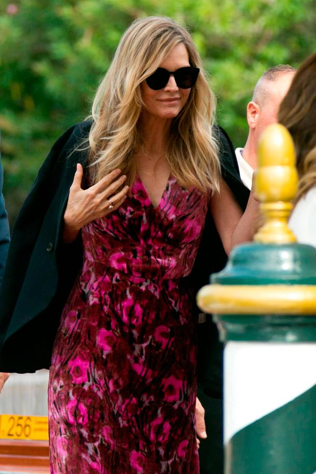 Actress Michelle Pfeiffer poses for photographers upon arrival at the 74th edition of the Venice Film Festival in Venice, Italy, Tuesday, Sept. 5, 2017. (Photo by Joel Ryan/Invision/AP)