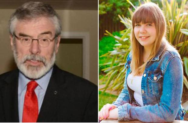 Gerry Adams has responded to claims of former councillor Lisa Marie Sheehy