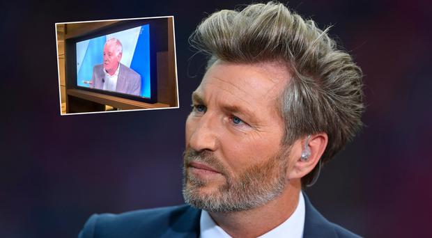 Robbie Savage and (inset) Eamon Dunphy on the box