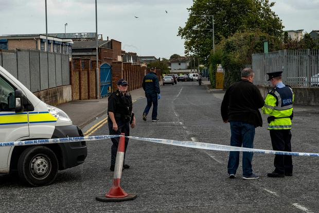 Scene of shots fired at junction of Kylemore Way and Jamestown Rd. Inchicore.
