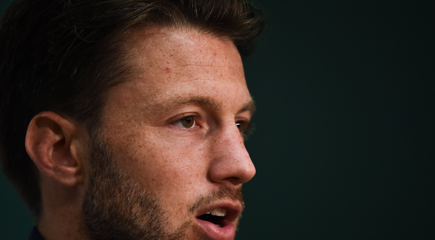 Harry Arter of Republic of Ireland during a press conference at the FAI NTC in Abbotstown, Dublin. Photo by Seb Daly/Sportsfile