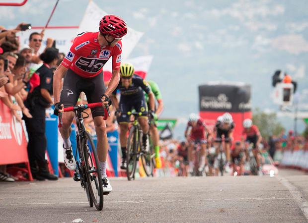 Sky's British cyclist Chris Froome. Photo: Jamie Reina/AFP/Getty Images