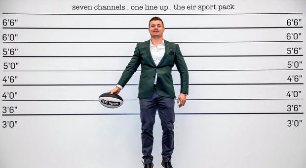 BT Sport Ambassador Brian O'Driscoll jumps to it to promote the channel's input to the eir Sport Pack