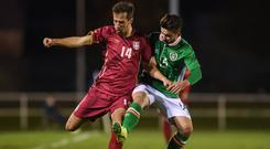 Sean Maguire in action for the Ireland U21s squad against Serbia last year. Photo: Matt Browne/Sportsfile