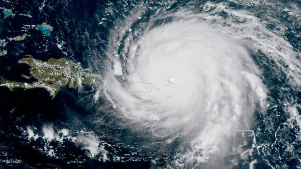 Hurricane Irma, a record Category 5 storm, is seen approaching Puerto Rico in this NOAA National Weather Service National Hurricane Center satellite image. Photo: REUTERS