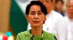 Myanmar leader Aung San Suu Kyi. Photo: REUTERS/Soe Zeya Tun