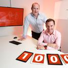 Niall Dorrian (l) CEO of Linked Finance and Marc O'Dwyer (r) owner of Big Red Cloud. Picture: Conor McCabe Photography