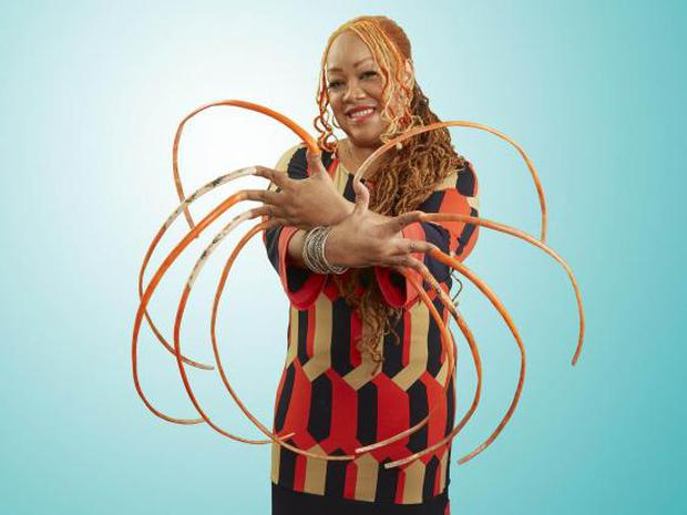 Ayanna Williams, who has the record for the Longest Fingernails in the latest edition of Guinness World Records (PA)