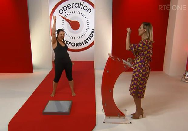 Triona McCarthy with Kathryn Thomas on Celebrity Operation Transformation