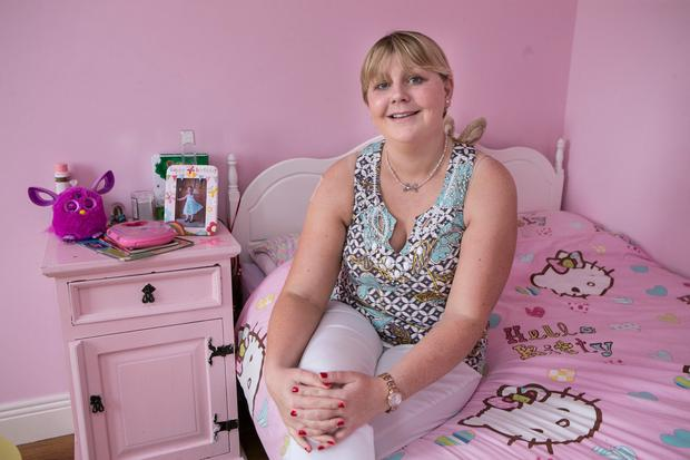 Evelyn Wakefield in her daughter Zoe's bedroom near Shinrone Co. Offaly.