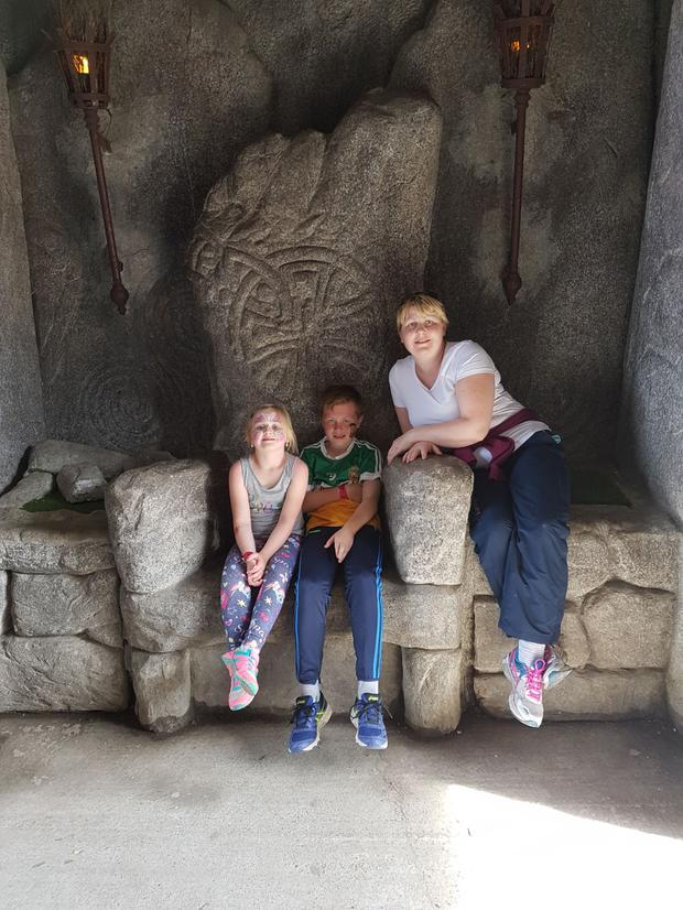 Evelyn with her son Cian (12) and daughter Zoe (6)