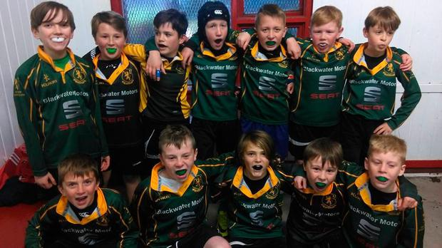 Fermoy RFC's mini rugby players