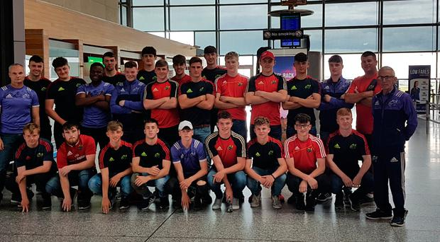 Munster U-18 Clubs who played Irish Exiles in their pre-interprovincial warm-up match