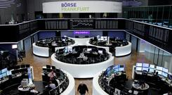 The German share price index, DAX board, is seen at the stock exchange in Frankfurt, Germany,