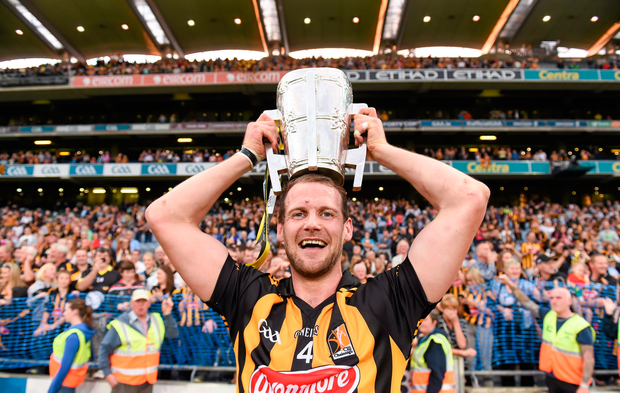 Kilkenny's Jackie Tyrrell with the Liam MacCarthy Cup after beating Tipp in 2014