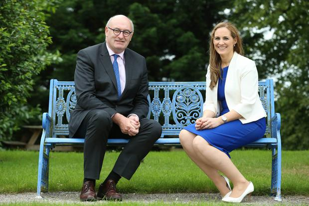 EU Commissioner Phil Hogan and ASA President Mary Delaney.