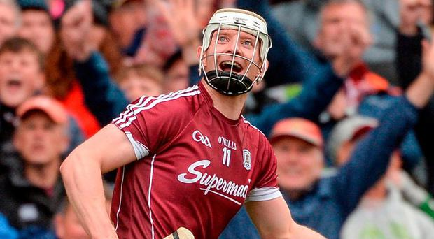 Joe Canning turns away in delight after hitting the winning point for Galway against Tipperary. Photo by Piaras Ó Mídheach/Sportsfile