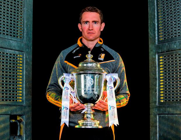 Kilkenny U-21 manager Eddie Brennan is hoping his players can get their hands on the James Nowlan Cup this afternoon. Photo by Sam Barnes/Sportsfile