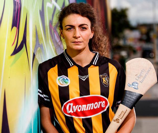 Anna Farrell is hoping that she and sisters Shelly and Meighan can help Kilkenny to victory. Photo: James Crombie/INPHO