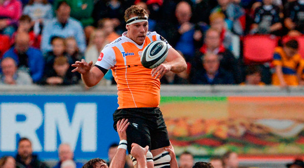 Cheetahs' Reniel Hugo wins possession in the lineout against Ulster last weekend. Photo: Sportsfile