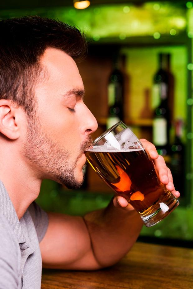 Alcohol affects men's fertility. Stock picture