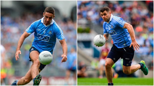 James McCarthy (left) and Kevin McManamon (right).