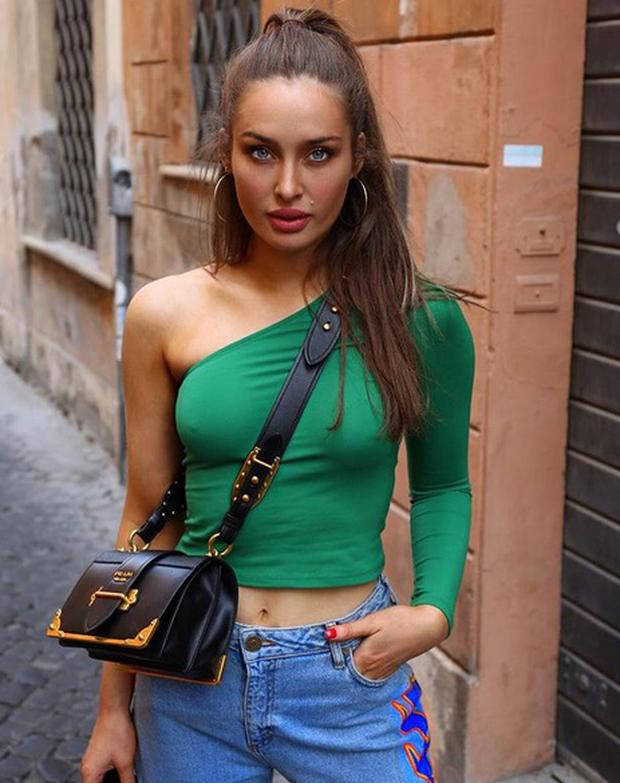 Model Roz Purcell in Rome. Picture: Instagram