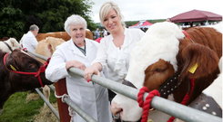 Thelma Gorman with then Agriculture Minister for Northern Ireland, Michelle O'Neill at 2014 Armagh Show