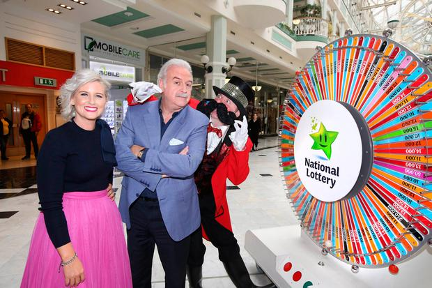 TV personalities Marty Whelan and Sinead Kennedy. Picture: Mac Innes Photography