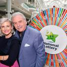 Marty Whelan and Sinead Kennedy at the launch of the new season of Winning Streak.