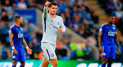 New signing Alvaro Morata was on target for Chelsea at the King Power Stadium. Photo: PA Wire