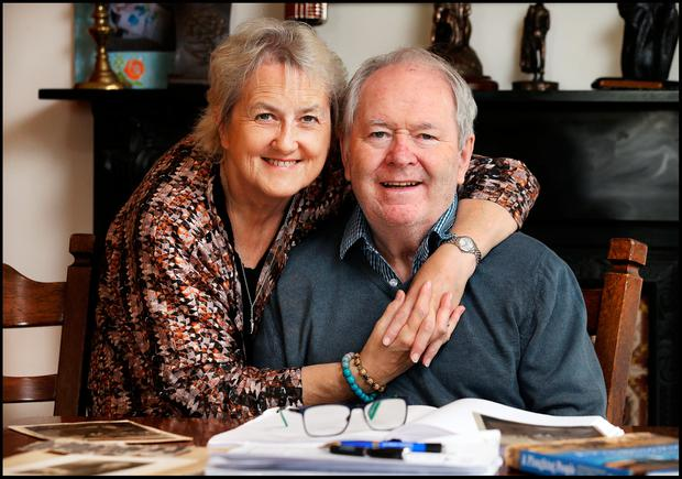 'I have never kowtowed to anybody': Valerie Cox and her husband Brian at their home in Wicklow Photo: Steve Humphreys