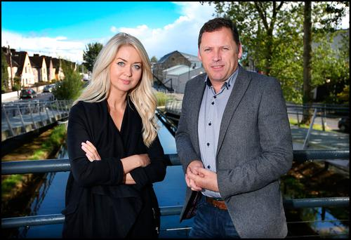 Calm after the storm: Barry Cowen with the 'Sunday Independent's' Niamh Horan Photo: Steve Humphreys