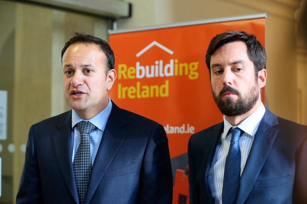 Questions and answers: Taoiseach Leo Varadkar and Minister for Housing Eoghan Murphy Photo: Sam Boal/Rollingnews.ie