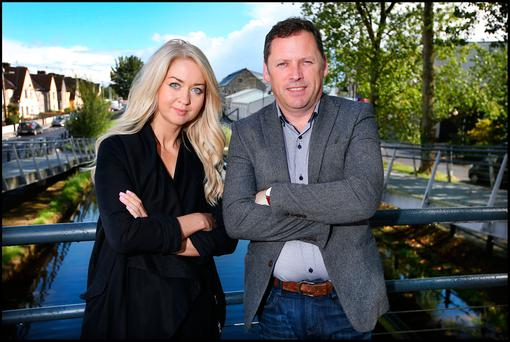 Interview: The Sunday Independent's Niamh Horan with Barry Cowen in Tullamore, Co Offaly Photo: Steve Humphreys