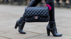 Fashion Blogger Barbora Ondrackova wearing black leggings from Balenciaga, a black Chanel bag, black heeled Chelsea ankle boots from Givenchy on April 1, 2016 in Dresden, Germany (Photo by Christian Vierig/Getty Images)