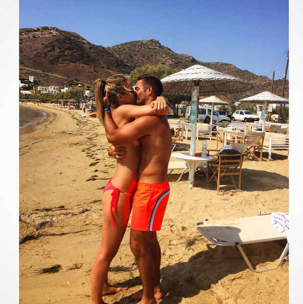 Vogue Williams with boyfriend Spencer Matthews. Picture: Instagram