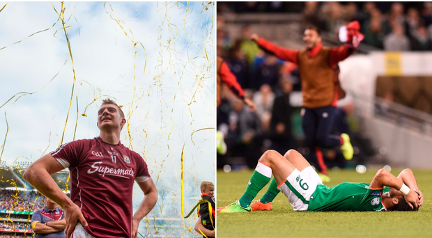 Joe Canning (left) and Shane Long (right).