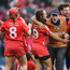 Cork manager Paudie Murray celebrates with his players after the Liberty Insurance All-Ireland Senior Camogie Final match between Cork and Kilkenny at Croke Park in Dublin. Photo by Matt Browne/Sportsfile