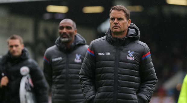 Frank de Boer head coach / manager of Crystal Palace walks off at full time during the Premier League match between Burnley and Crystal Palace at Turf Moor on September 10, 2017 in Burnley, England. (Photo by Robbie Jay Barratt - AMA/Getty Images)