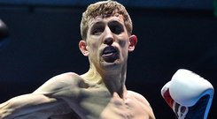 The Kildare southpaw beat Wales' Dai Davies over eight rounds. Photo by Ramsey Cardy/Sportsfile
