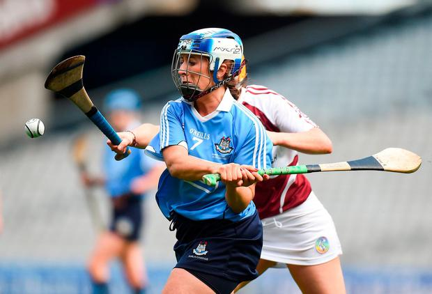 Dublin's Grainne Free in action against Westmeath's Denise McGrath. Photo by Matt Browne/Sportsfile