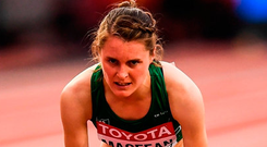 Mageean revealed she had struggled with low blood counts during the summer. Photo by Stephen McCarthy/Sportsfile