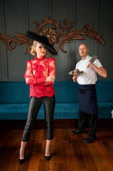 Model Sarah Morrissey and chef Mickael Viljanen launch the Fashion and Food Summit in Sligo. Photo: Naoise Culhane