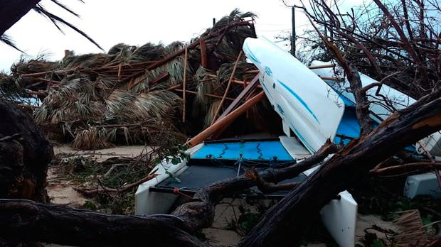 Richard Branson shares images of the devastation on Necker Island (Photo: Virgin.com)