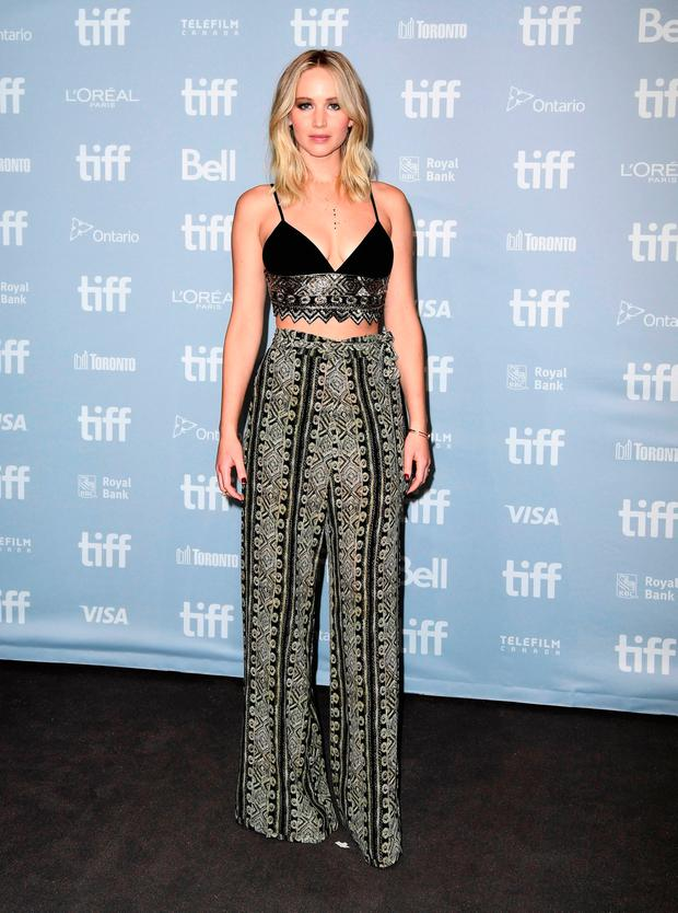Jennifer Lawrence at the 'mother!' press conference during the 2017 Toronto International Film Festival held at TIFF Bell Lightbox on September 10, 2017 in Toronto, Canada. (Photo by Emma McIntyre/Getty Images for Paramount Pictures)