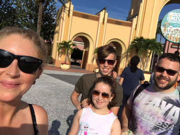 The Gorbutt family at Universal Studios