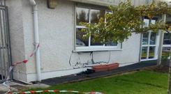 A picture showing the damage caused at First Steps Creche this morning Picture: Anna Connors