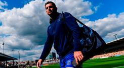 Rob Kearney of Leinster ahead of the Guinness PRO14 Round 1 match between Dragons and Leinster at Rodney Parade in Newport, Wales. Photo by Ramsey Cardy/Sportsfile
